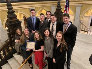 Burgettstown Mock Trial team